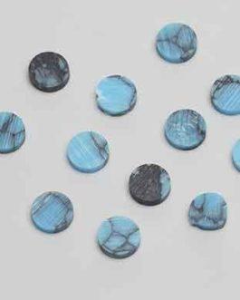 12 X Turquoise Stone 6.35Mm (1/4)