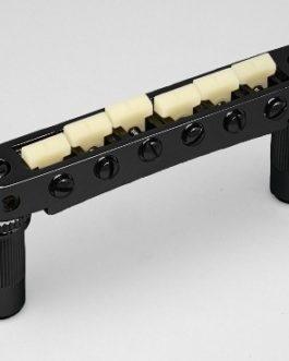 *TONEPROS TUNEOMATIC 6mm LARGE POSTS W/ G FORMULA SADDLES BLACK