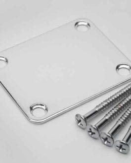 Neck Plate + Screws Standard Chrome