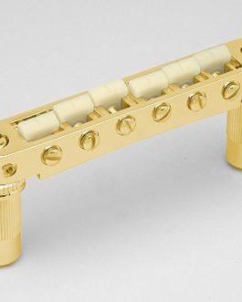 *TONEPROS TUNEOMATIC 6mm LARGE POSTS W/ G FORMULA SADDLES GOLD